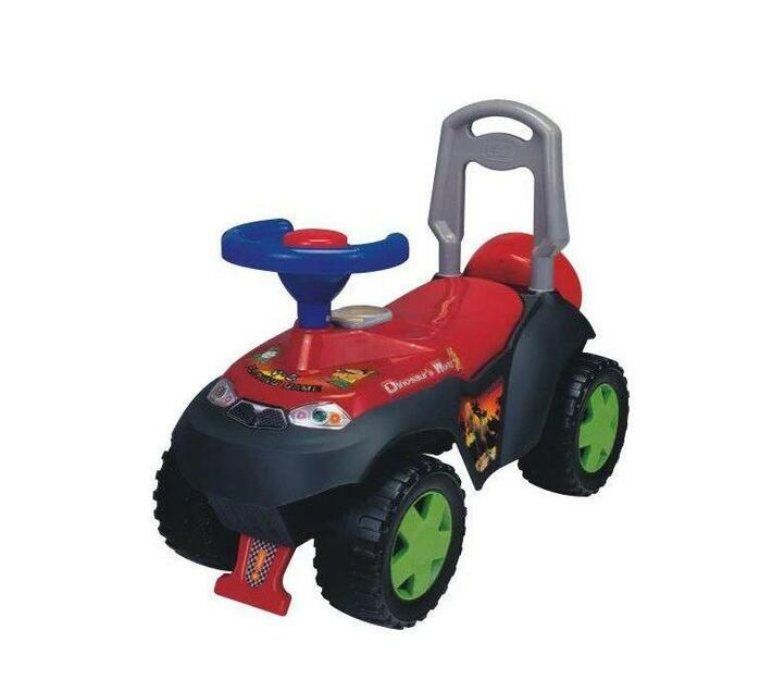 Ride On Dinosaur World Push Car with Parent Easy Grip - Red