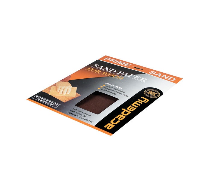 Academy 100GRIT Sandpaper Black