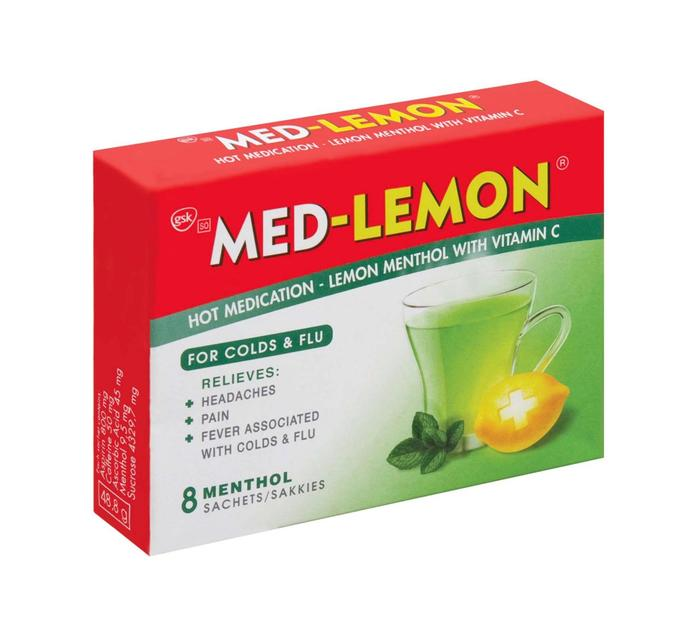 Med Lemon Cold & Flu Lemon (1 x 8's)