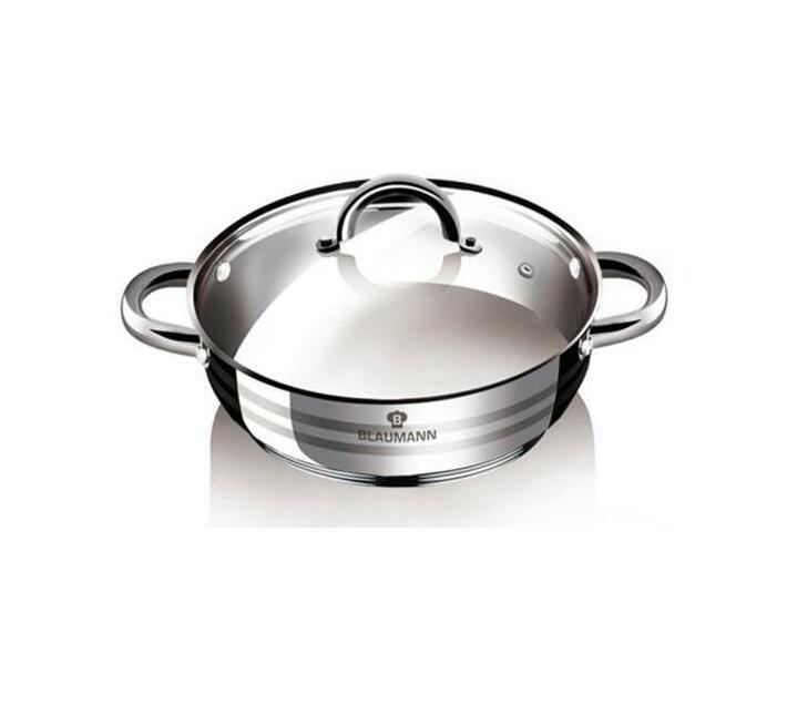 Blaumann 28cm Stainless Steel Shallow Pot Gourmet Line
