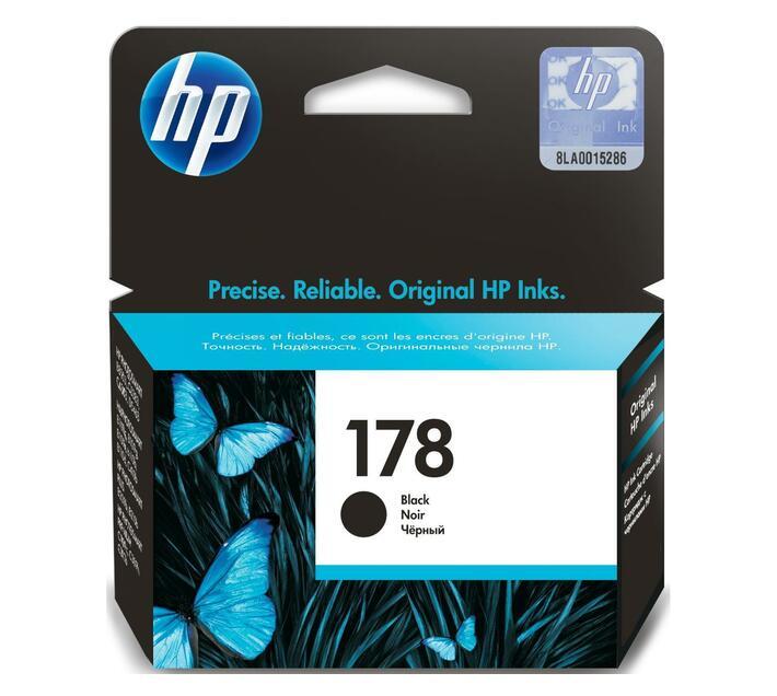 HP 178 Black original ink cartridge for Deskjet 3526; Photosmart