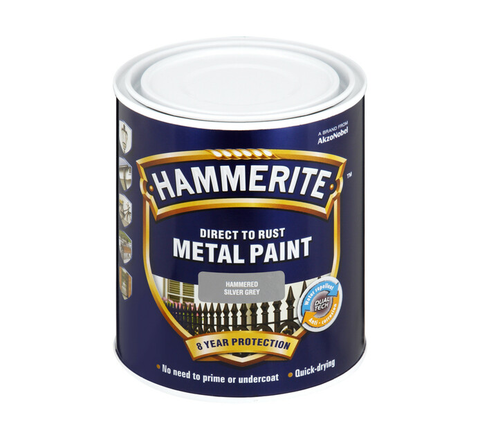 Hammerite 500ml Metal Paint Grey