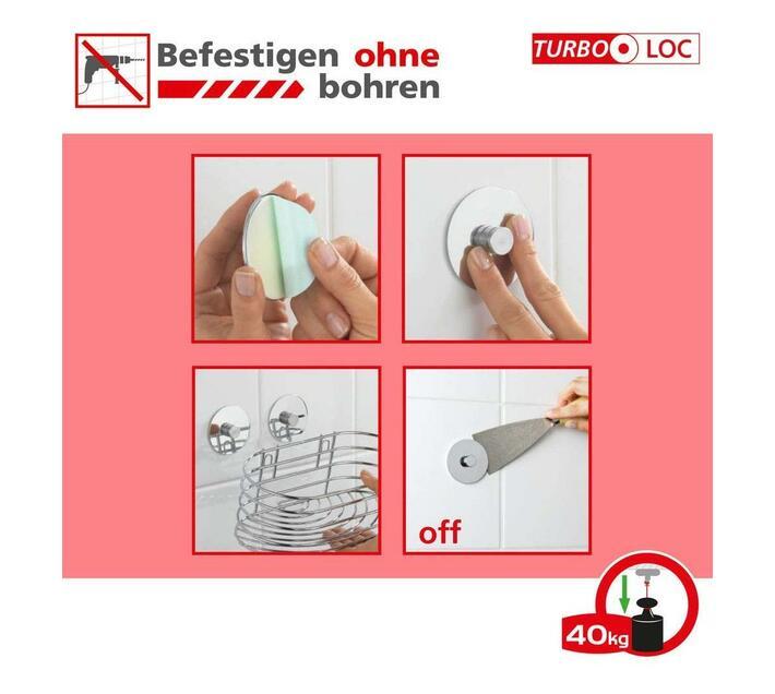WENKO Turbo-Loc Soap Dispenser Quadro Range - No Drilling Required