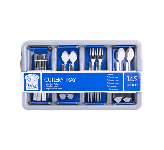 Bakers & Chefs 145-Piece Cutlery Set