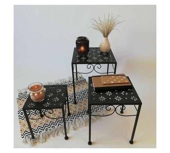 Eco Metal Side Table set of 3