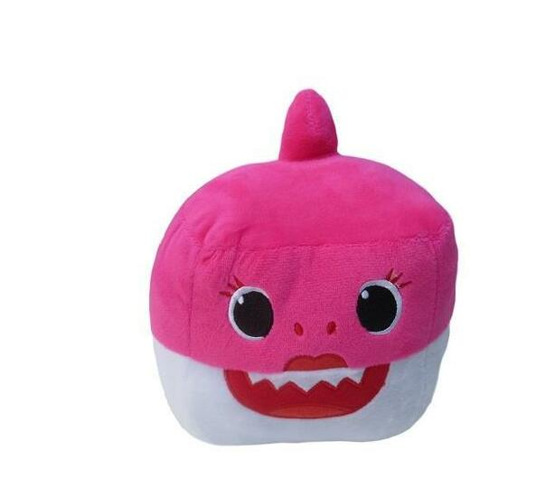 Totland Cube - Baby Shark Singing Plush Toy - Pink