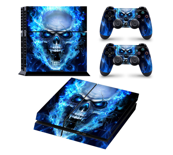 SKIN-NIT Decal Skin For PS4: Blue Skull