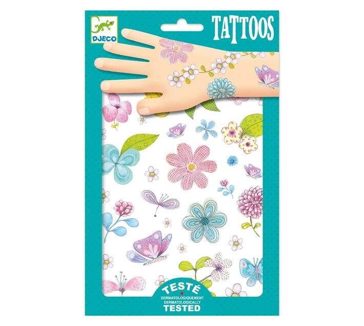 Djeco Tattoos- Fair Flowers of the Fields