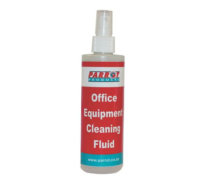 PARROT PRODUCTS Office Equipment Cleaning Fluid 250ml Carded