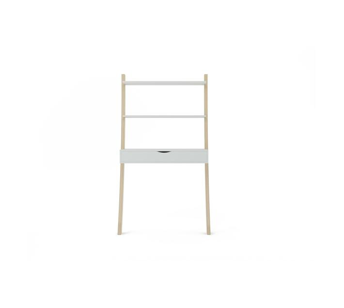 Tall Leaning Desk Drawer - White