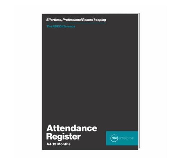 RBE: Bulk Pack Of 10 Attendance Register 12 Months 28pgs - 80gsm bond