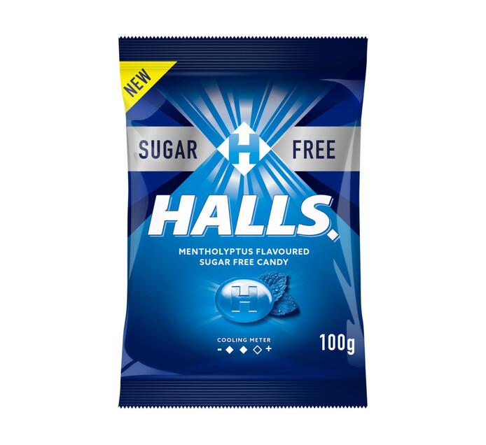 Halls Sugar Free Candy Eucalyptus (1 x 100g)