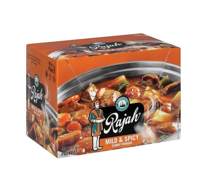 Rajah Envelope Spice Curry Powder Mild&Spicy (40 x 7G)