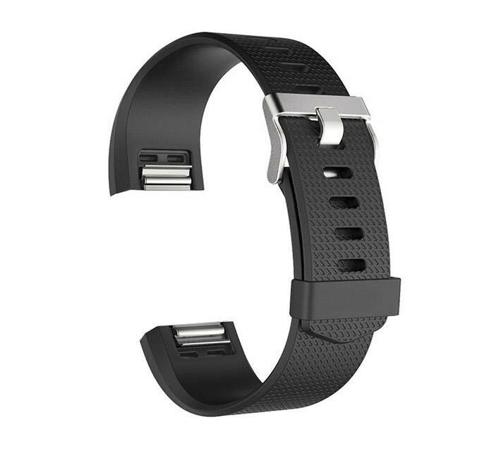 Zonabel Fitbit Charge 2 Silicone - Black (Large)