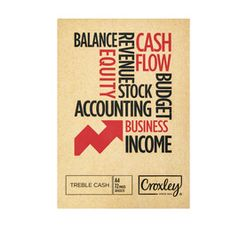 Croxley A4 Bookkeeping Treble Cash Book 72-Page