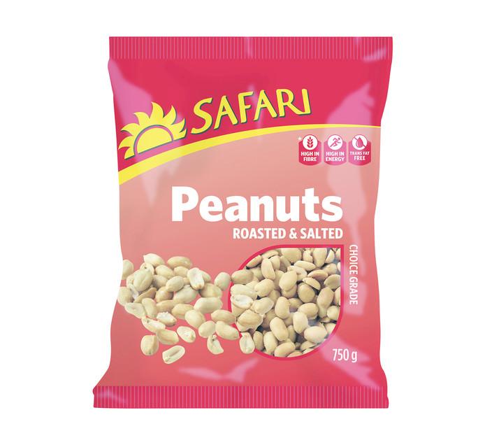 Safari Nuts Roasted Peanuts (1 x 750g)