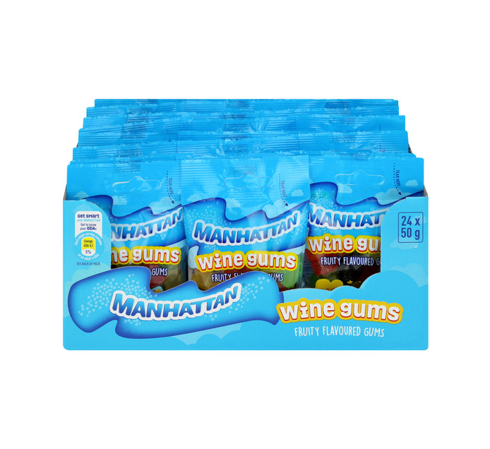 Manhattan Mini Prepacks Mini Wine Gums (24 x 50g)
