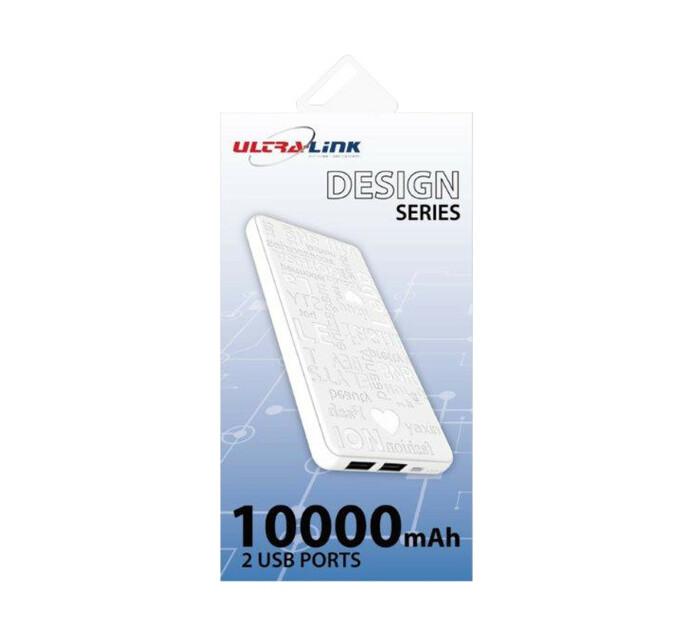 Ultra Link 10000mAh Powerbank White