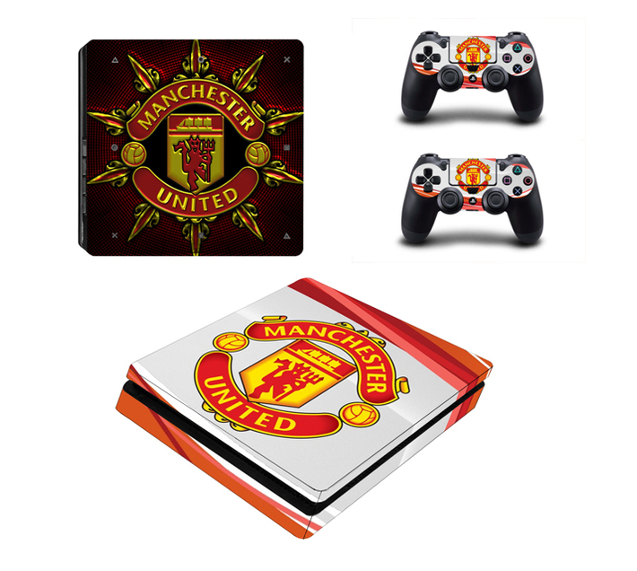 SKIN-NIT Decal Skin For PS4 Slim: Manchester United (Red + White)