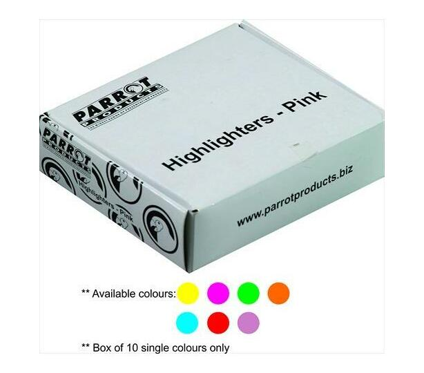 PARROT PRODUCTS Highlighter Marker Box (10 Markers, Yellow)
