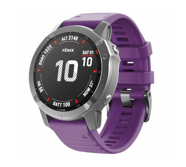 Replacement Silicone Band for Fenix 6X(26mm)- Purple