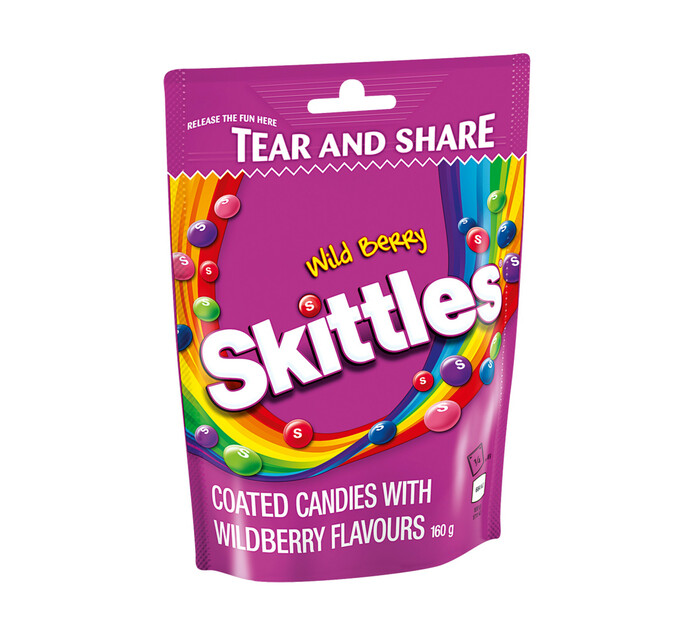 Skittles Chewy Coated Candy Wild Berry (1 x 160g)