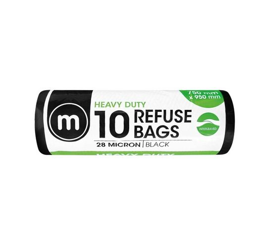 M HEAVY DUTY REFUSE BAGS 10'S