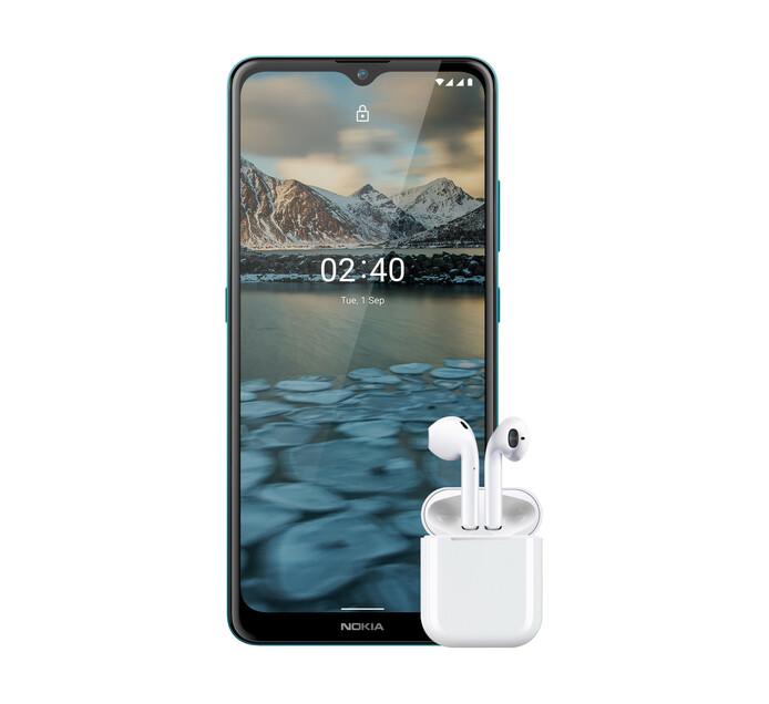 Nokia 1 2.4 MM plus Bluetooth Earpods Blue