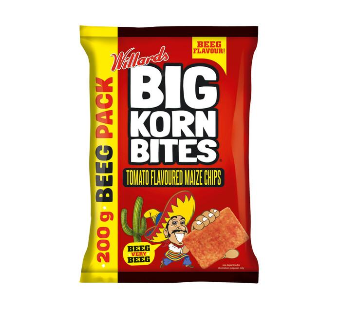 Willards Big Korn Bites Tomato (18  x  200g)