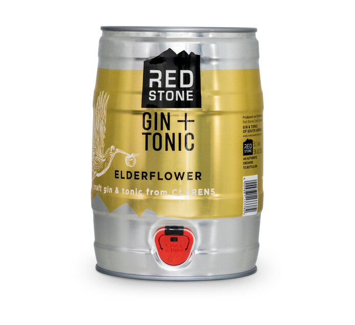 Red Stone Elderflower Gin & Tonic (1 x 5L)