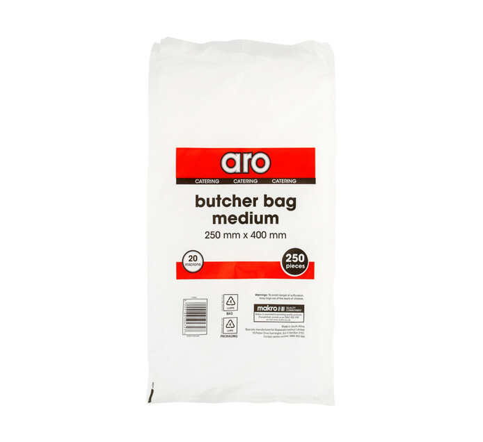 ARO Butcher Bags Medium 250mm x 400mm (1 X 250's)