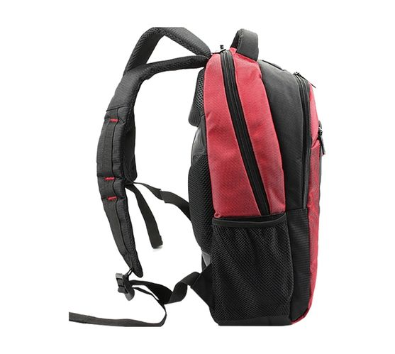 Kingsons K Series 15.6 (39.6cm) Laptop Backpack in Red with Padded Adjustable Shoulder Straps and Breathable Padded Back
