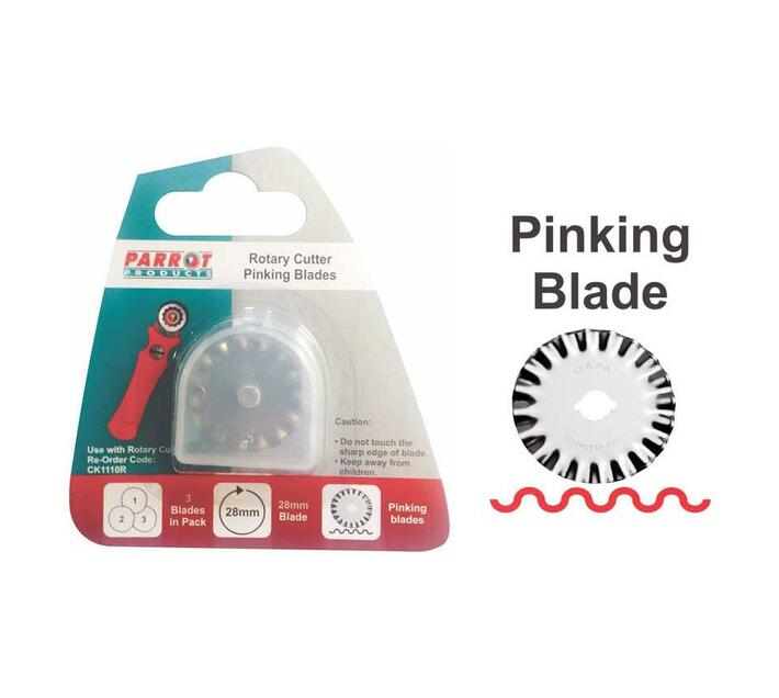 PARROT PRODUCTS Rotary Craft Knife Blades (28mm, Pinking)