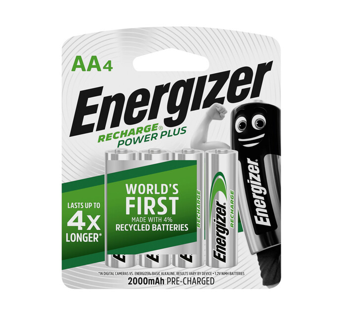 Energizer AA 2000 mAh Rechargeable Batteries 4-Pack