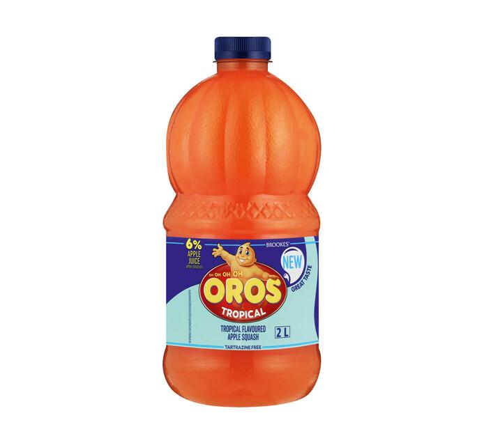 Brookes Oros Squash Tropical (6 x 2l)