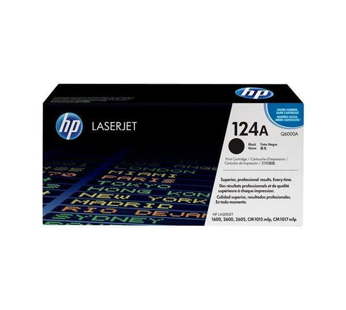 HP 124A Black original LaserJet toner cartridge Q6000A for Color