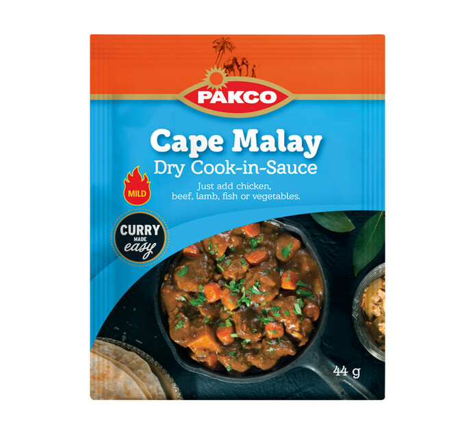 Pakco Dry Cook In Sauce Cape Malay Curry (10 x 44g)