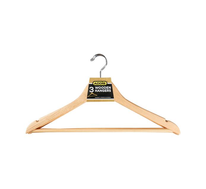 Addis 3 Pack Wooden Hangers