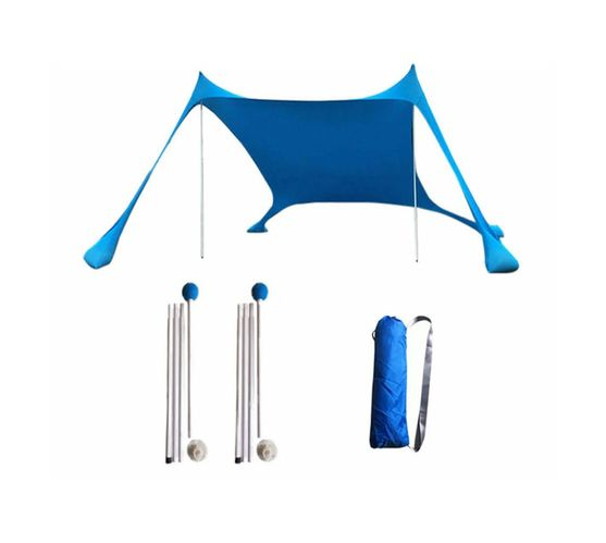 Pop Up 11% Lycra Beach Tent with Ropes & Separate Anchor Sandbags