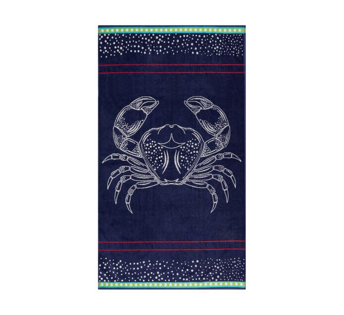 Primaries 90 x 150 cm Velour Beach Towel Sea Creature