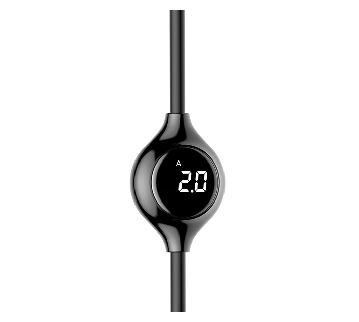 Baseus 1m - 2A Big Eye Digital Display USB Type-A 2.0 to Lightning - Black