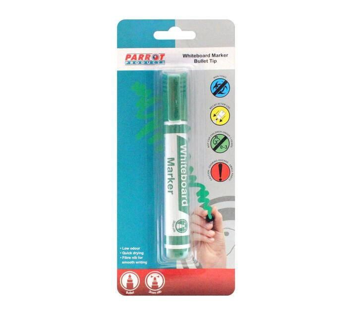 PARROT PRODUCTS Whiteboard Marker (Bullet Tip, Carded, Green