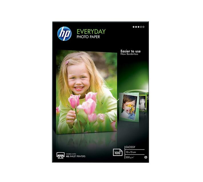 HP Everyday Photo Paper Glossy photo paper 8 mil 100 x 150 mm 200