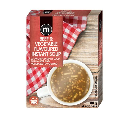 Plax Instant Soup Beef And Vegetables (4's)
