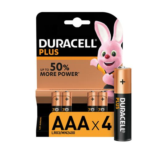 Duracell AAA Plus Power AAA 4 Pack