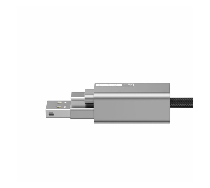 Baseus Pendant MicroSD Card Reader USB Type-A 2.0 to Type-C Cable - Silver