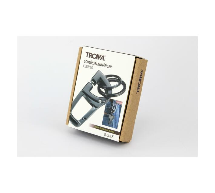 Troika Keyring Carabiner with Innovative Click Mechanism D-CLICK`