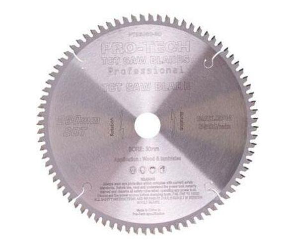 Saw Blade Tct 260x2.5x30x80t Wood Prof. Pro-Tech Fes. Kapex
