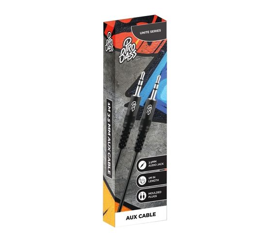Pro Bass Unite Series Auxiliary Cable - Black