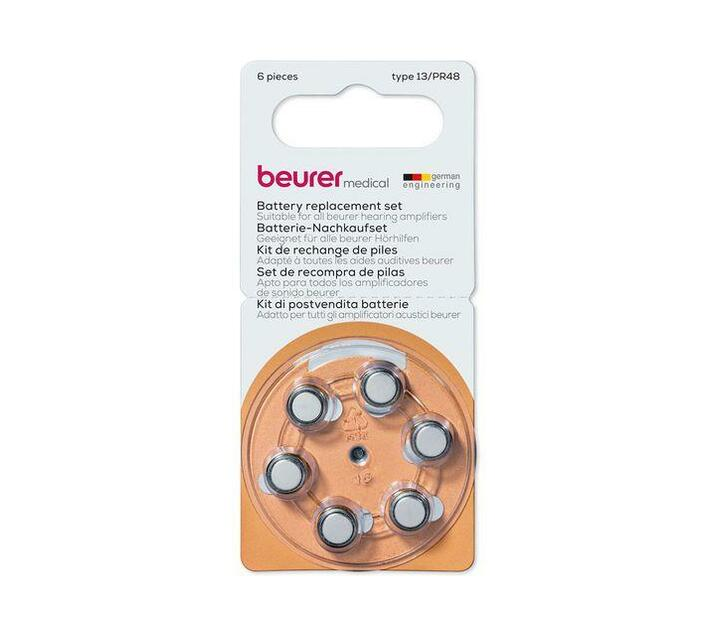 Beurer 13/PR48 Battery Replacement Set for Hearing Amplifier HA 20 and HA 50 - Max Life 75hrs